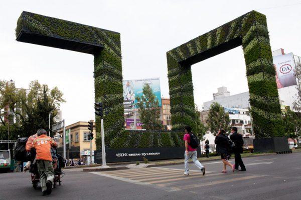 'Via Verde Project' สวนแนวตั้งในเม็กซิโกช่วยลดมลพิษในอากาศ