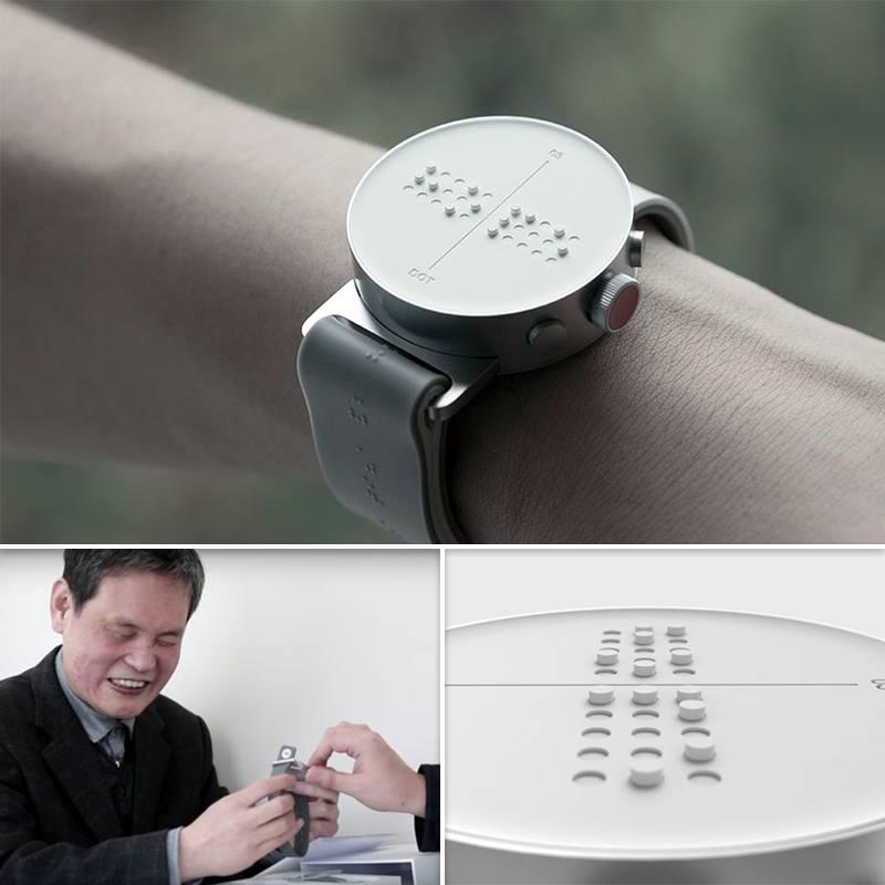 'Dot' สมาร์ทวอร์ชอักษรเบรลล์เพื่อผู้พิการทางสายตา อ่านเวลาด้วยนิ้วสัมผัส