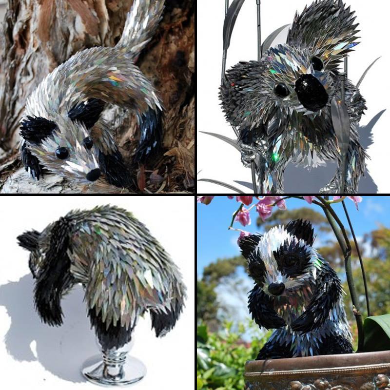 ศิลปินชาวออสซี่ชุบชีวิตเศษซากซีดีเหลือให้เป็นเหล่าสัตว์ป่าแสนน่ารัก