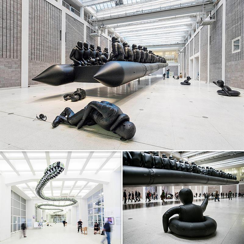 ศิลปะชิ้นล่าสุดจาก Ai Wei Wei สะท้อนความไร้มนุษยธรรมต่อกรณีผู้อพยพ