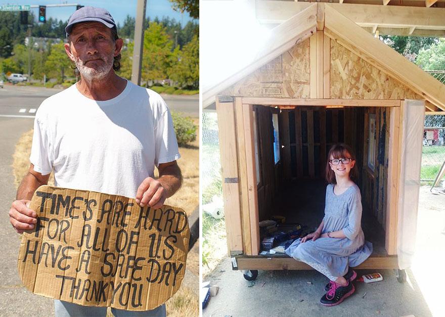 เด็กหญิง 9 ขวบ ตัวเล็กหัวใจใหญ่ สร้างบ้านเคลื่อนที่ให้คนไร้บ้าน