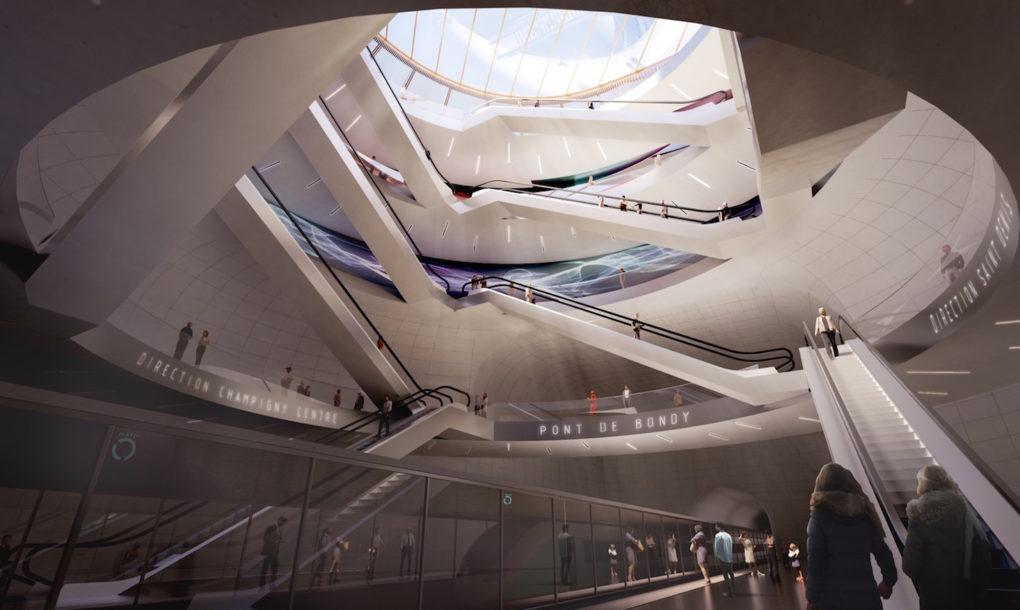 'สะพานเชื่อมต่อวัฒนธรรม' ปารีสเปิดตัวดีไซน์สถานีรถไฟใต้ดินใหม่รูปวงแหวนข้ามแม่น้ำ