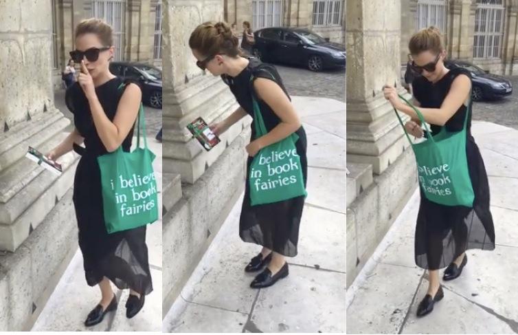เอ็มม่า วัตสัน ซ่อนหนังสือร้อยเล่มไว้ทั่วปารีส ส่งเสริมให้คนรักการอ่านมากขึ้น