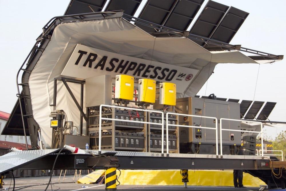 TRASHPRESSO เครื่องรีไซเคิลขยะเคลื่อนที่ได้ชิ้นแรกของโลก!