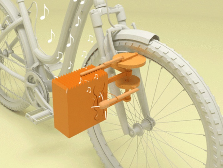 Ecobici : อุปกรณ์เสริมเสียงลดความเสี่ยงในการขี่จักรยานในเมืองใหญ่