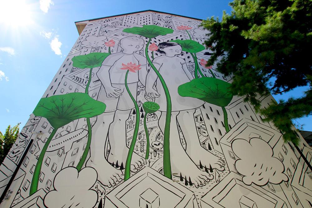 Millo ศิลปินอิตาเลียน สะท้อนสังคมเมืองและธรรมชาติผ่านจิตรกรรมบนผนังอาคาร