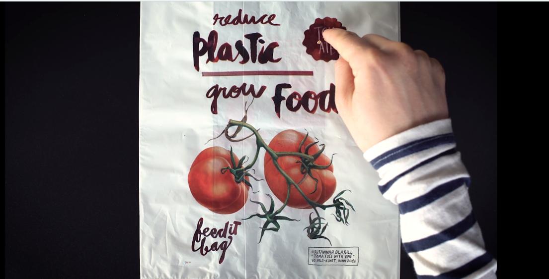 FEEDitBAG ถุงพลาสติกสุดประเสริฐ ย่อยสลายได้ ปลูกได้ กินได้!