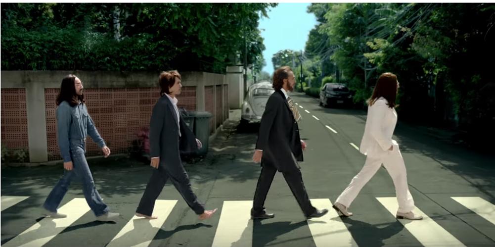 สสส. ไขปริศนา สี่หนุ่ม The Beatles เดินข้ามม้าลายจะไปไหนกัน?