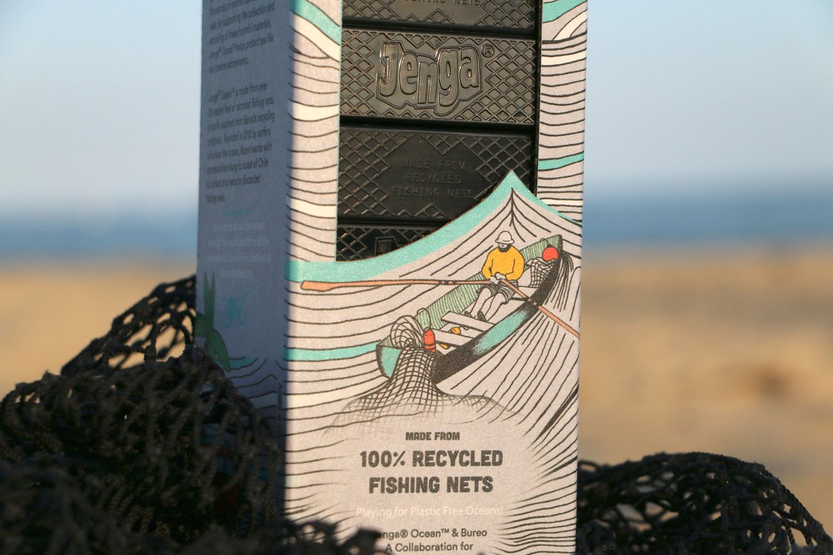 Jenga Ocean: เกมตึกถล่มผลิตจากแหจับปลา ย้ำเตือนรักษ์สัตว์ทะเลและสิ่งแวดล้อม