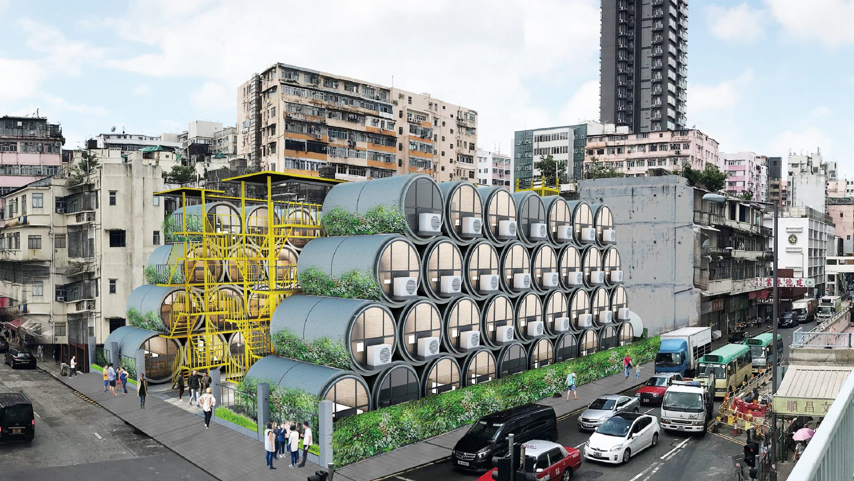 OPod Tube Housing: บ้านจากท่อคอนกรีตในพื้นที่จำกัดอย่างฮ่องกง