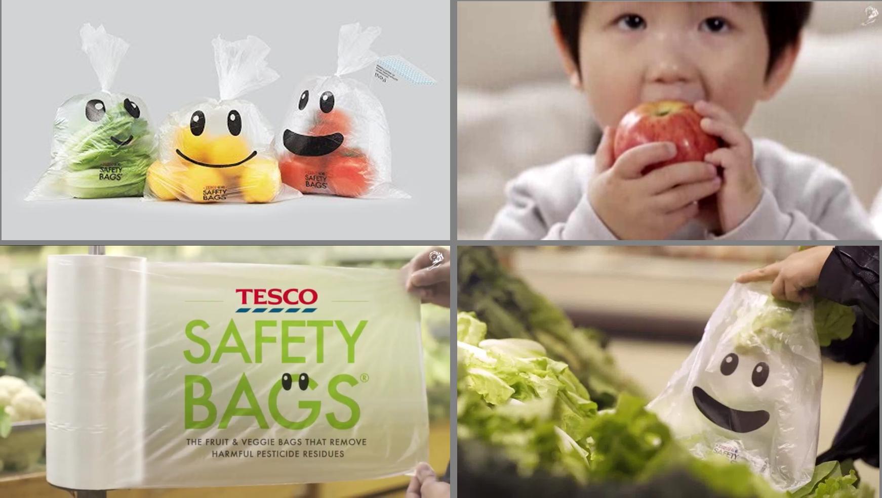 เทสโก้ประเทศจีนส่ง Safety Bag ถุงใส่ผักผลไม้สังเคราะห์แสง ช่วยกำจัดจุลินทรีย์ที่ปนเปื้อนมากับผัก
