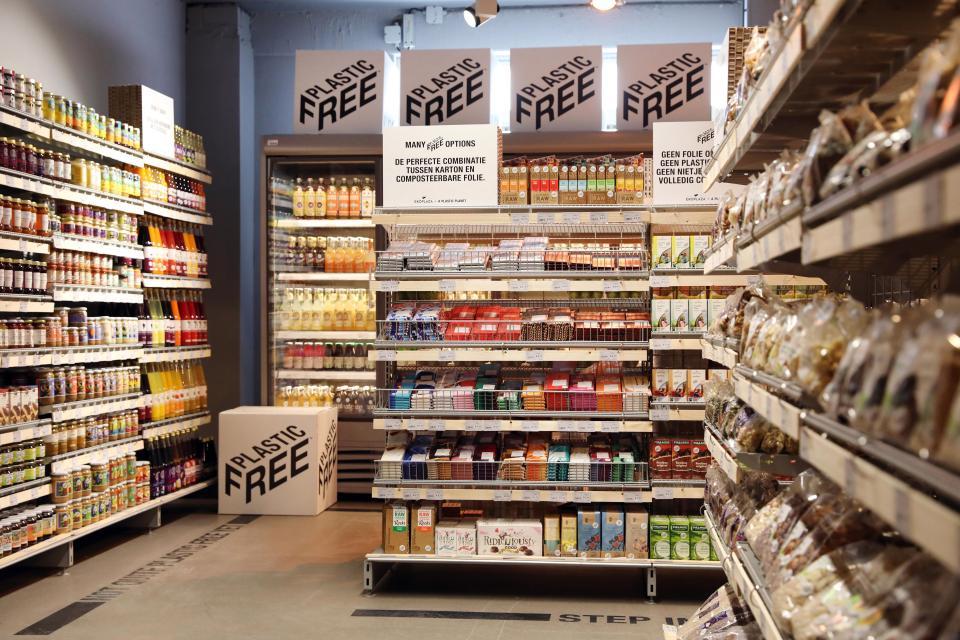 Ekoplaza ซูเปอร์มาร์เก็ตในเนเธอร์แลนด์ชวนช็อปสินค้าโซนใหม่ 'ไร้พลาสติก'