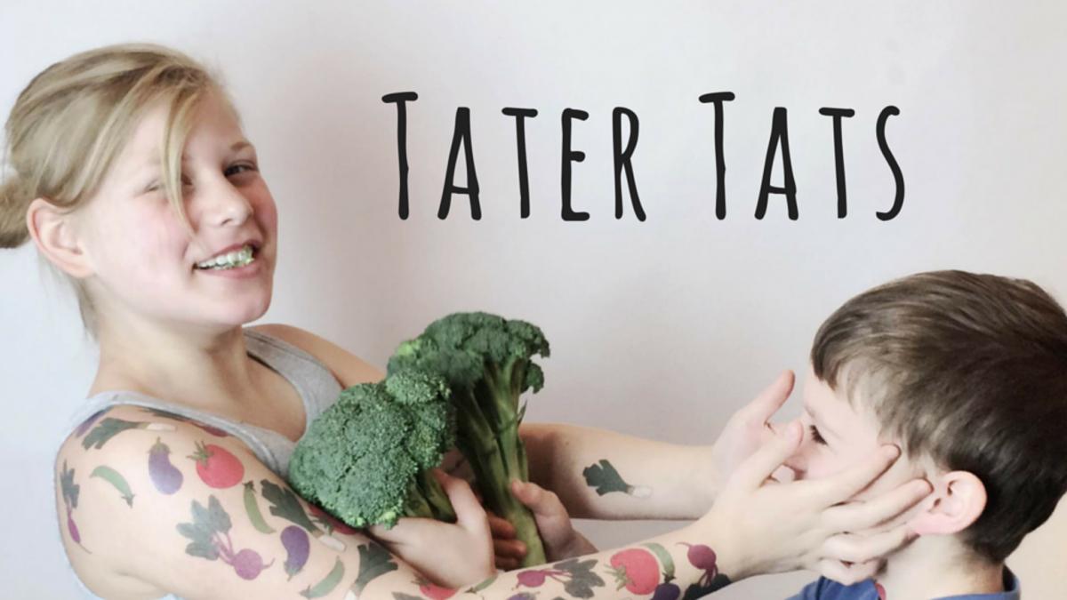 Tater Tats สติ๊กเกอร์รอยสักรูปผักผลไม้ ส่งเสริมการกินผัก สนับสนุนเกษตรกร