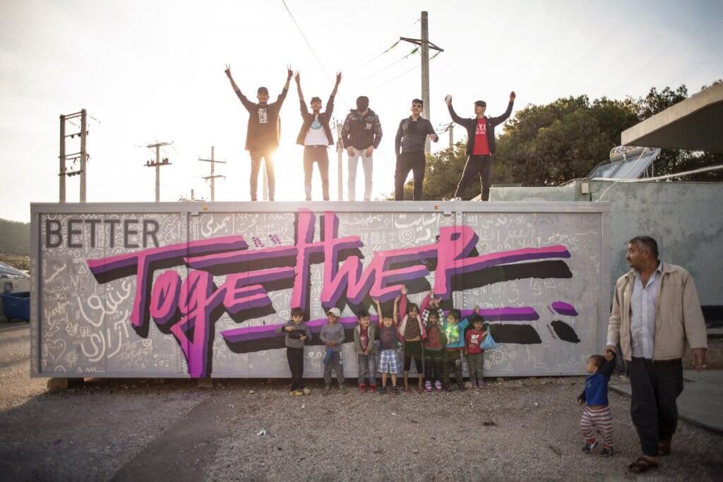 ศิลปินสตรีทอาร์ตร่วมจัดเวิร์คช็อปศิลปะในแคมป์ผู้ลี้ภัย เติมพลังแห่งความฝันให้เด็กๆ