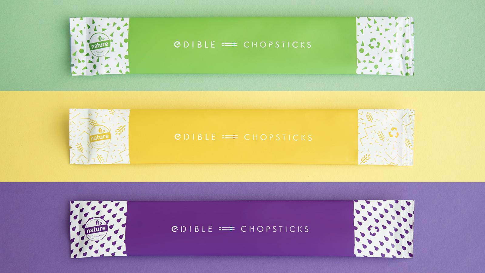 Edible Chopsticks ตะเกียบไม้ใช้แล้วอย่าทิ้ง กินต่อได้! อิ่มอร่อย ไม่ทำลายป่าไม้