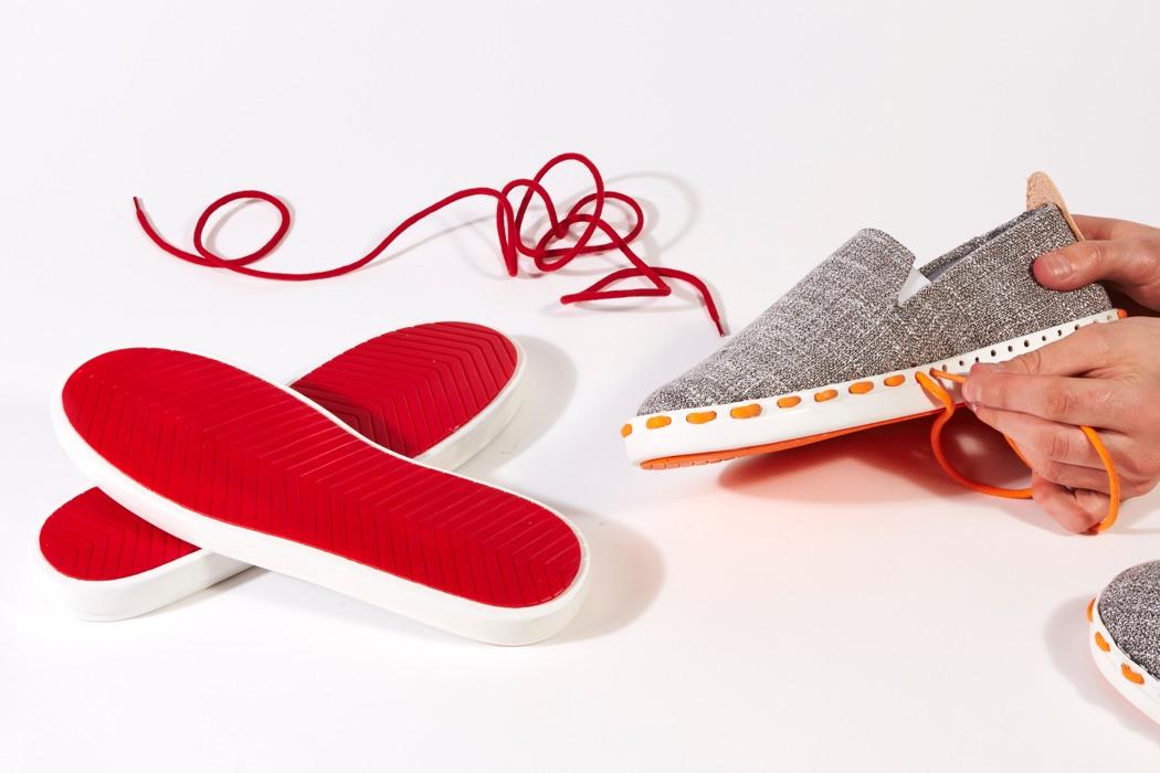 'Layer' รองเท้าลดขยะ ซ่อมและเปลี่ยนสไตล์เองได้ตามใจชอบด้วยมือคุณเอง