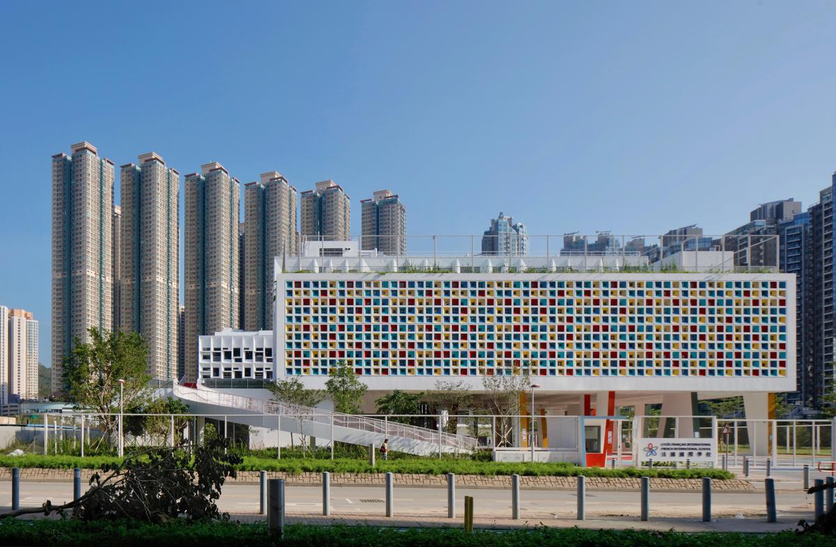 โรงเรียนนานาชาติฝรั่งเศสในฮ่องกง ดีไซน์สีเขียว สร้างสรรค์ มากประโยชน์