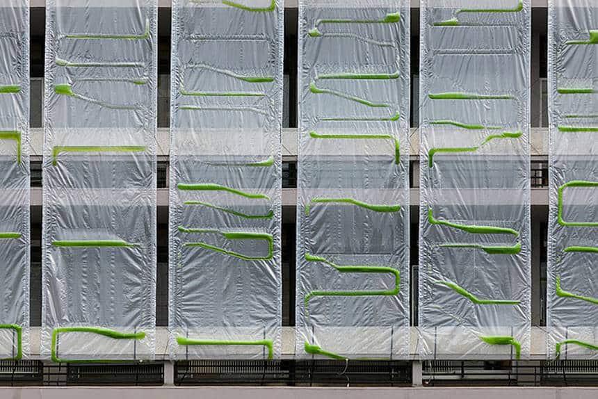 AlgaeClad System ฟอกอากาศด้วยสาหร่าย ลดมลพิษ สร้างออกซิเจนแทนต้นไม้