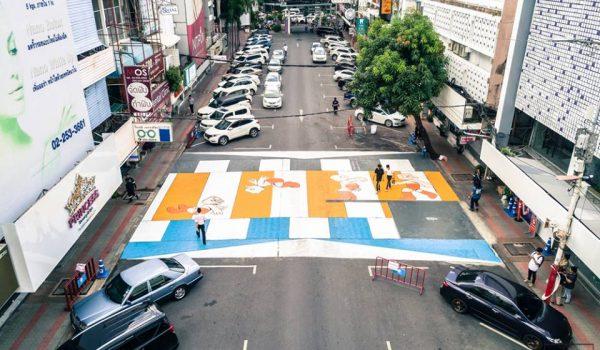 ข้ามถนนอย่างมีศิลปะกับโปรเจ็กต์ 'ศิลปะ พา ข้าม' ที่ทำให้การข้ามถนนสนุกยิ่งขึ้น