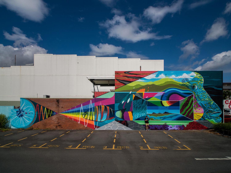 Sea Walls กำแพงศิลป์ขนาดยักษ์ สร้างตระหนักรักษ์สิ่งแวดล้อมทางท้องทะเล