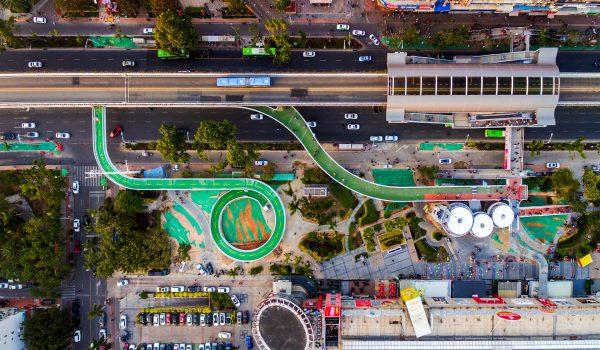 Xiamen Bicycle Skyway ทางจักรยานลอยฟ้าที่ยาวที่สุดในโลกในประเทศจีน