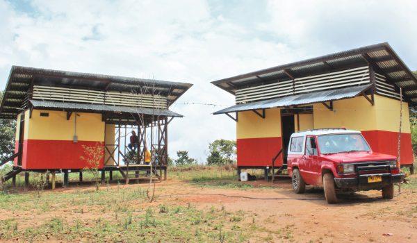บ้านต้นทุนต่ำสำหรับเกษตรกรปลูกกาแฟผู้มีรายได้น้อยในโคลัมเบีย