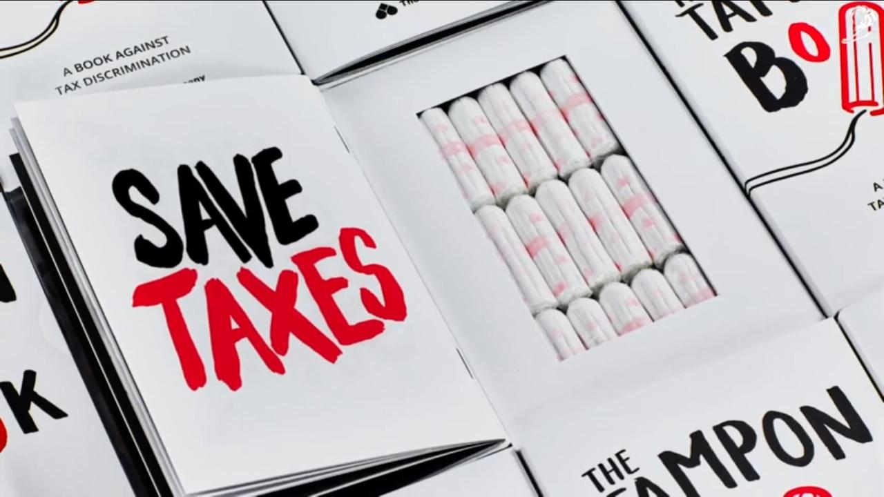 The Tampon Book หนังสือสอดไส้ผ้าอนามัย ประท้วงภาษีผ้าอนามัยแพง