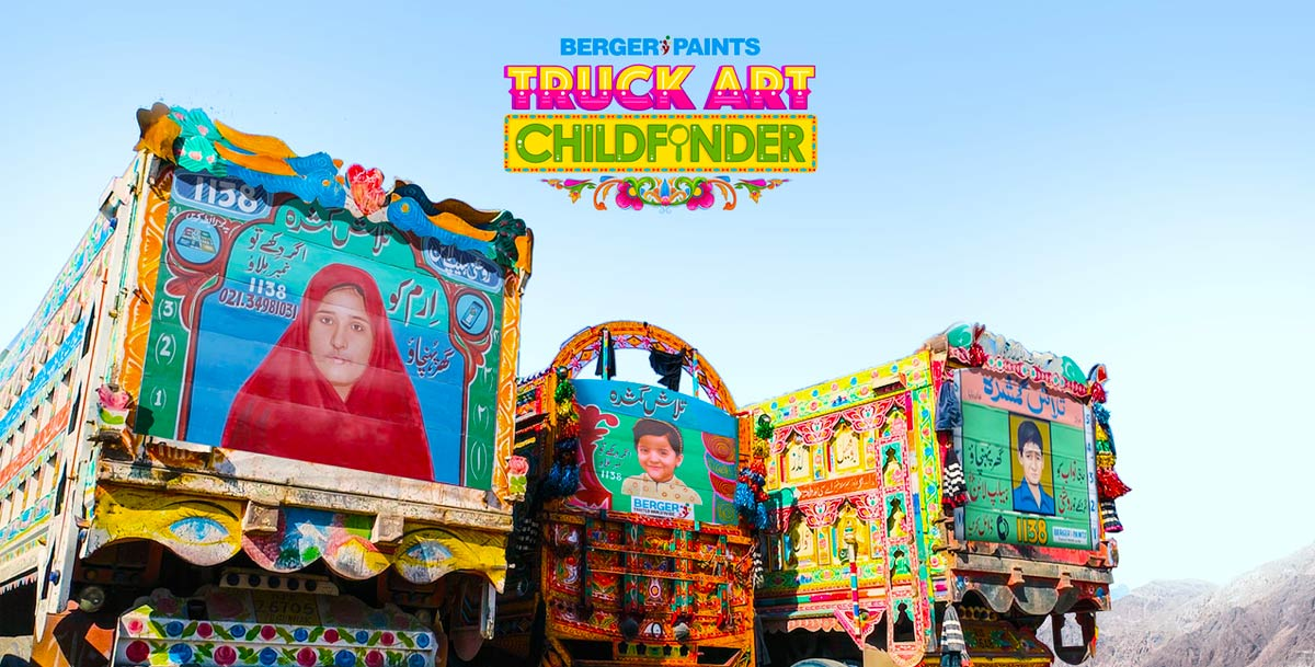 Truck Art Childfinder ศิลปะบนรถบรรทุกช่วยตามหาเด็กหายในปากีสถาน