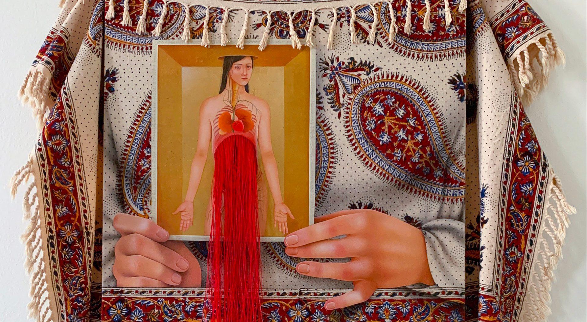 Arghavan Khosravi ศิลปินหญิงชาวอิหร่านกับจิตรกรรมสื่อผสมสะท้อนปัญหาสิทธิสตรี