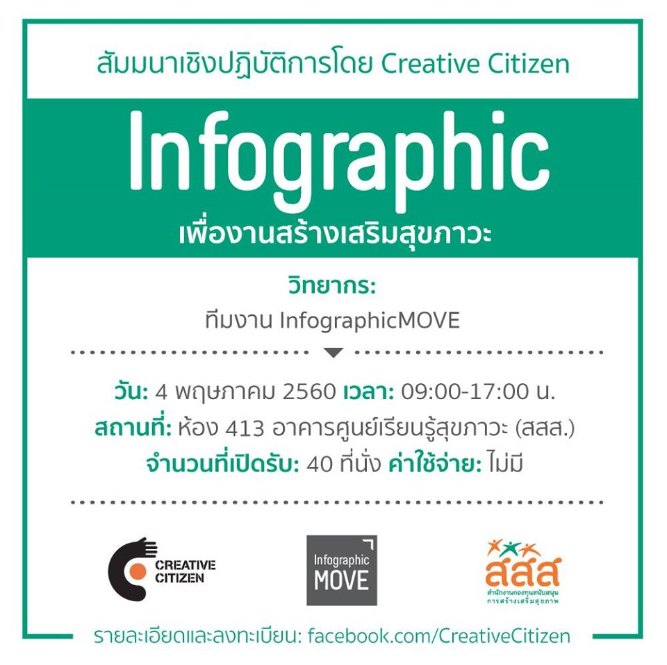 Workshop: Infographic เพื่องานสร้างเสริมสุขภาวะ 2560 #2
