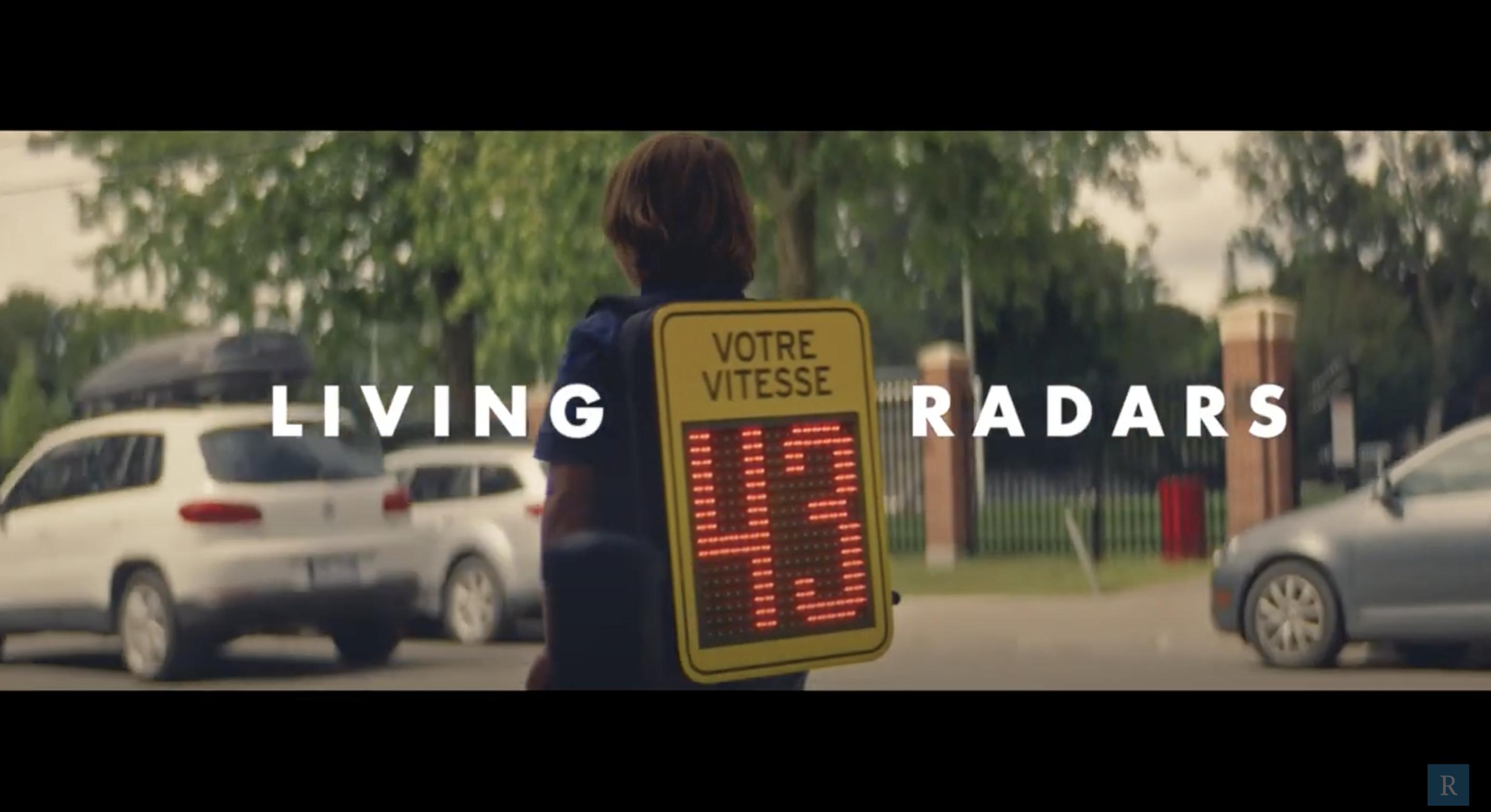 Living Radars: เรดาร์มีชีวิต ตรวจจับความเร็วในเขตโรงเรียน ทำงานด้วยชีวิตของเด็กนักเรียน