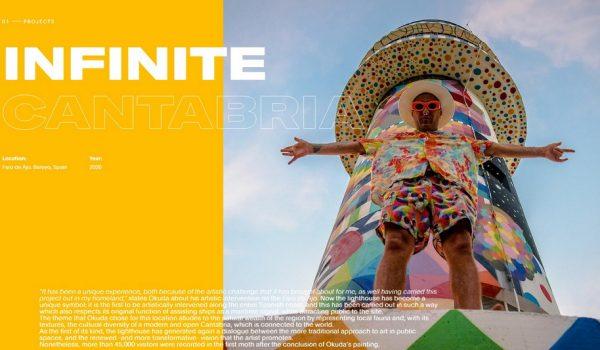 โปรเจ็กต์ Infinite Cantabria โดยศิลปิน Okuda เปลี่ยนประภาคารอายุ 90 ปีให้เป็นแลนด์มาร์คทางศิลปะวัฒนธรรม