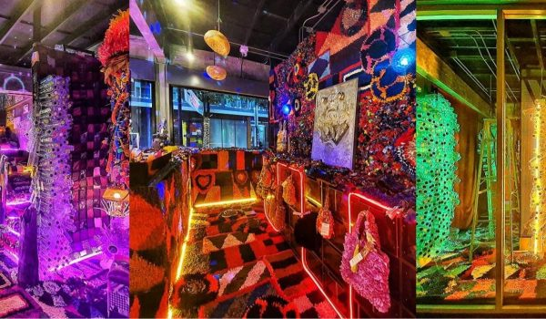 A-Waiting Materials งานศิลปะของวิชชุลดา ปัณฑรานุวงศ์ ในห้องโรงแรมหรูที่ล้วนมาจาก 'ขยะ'