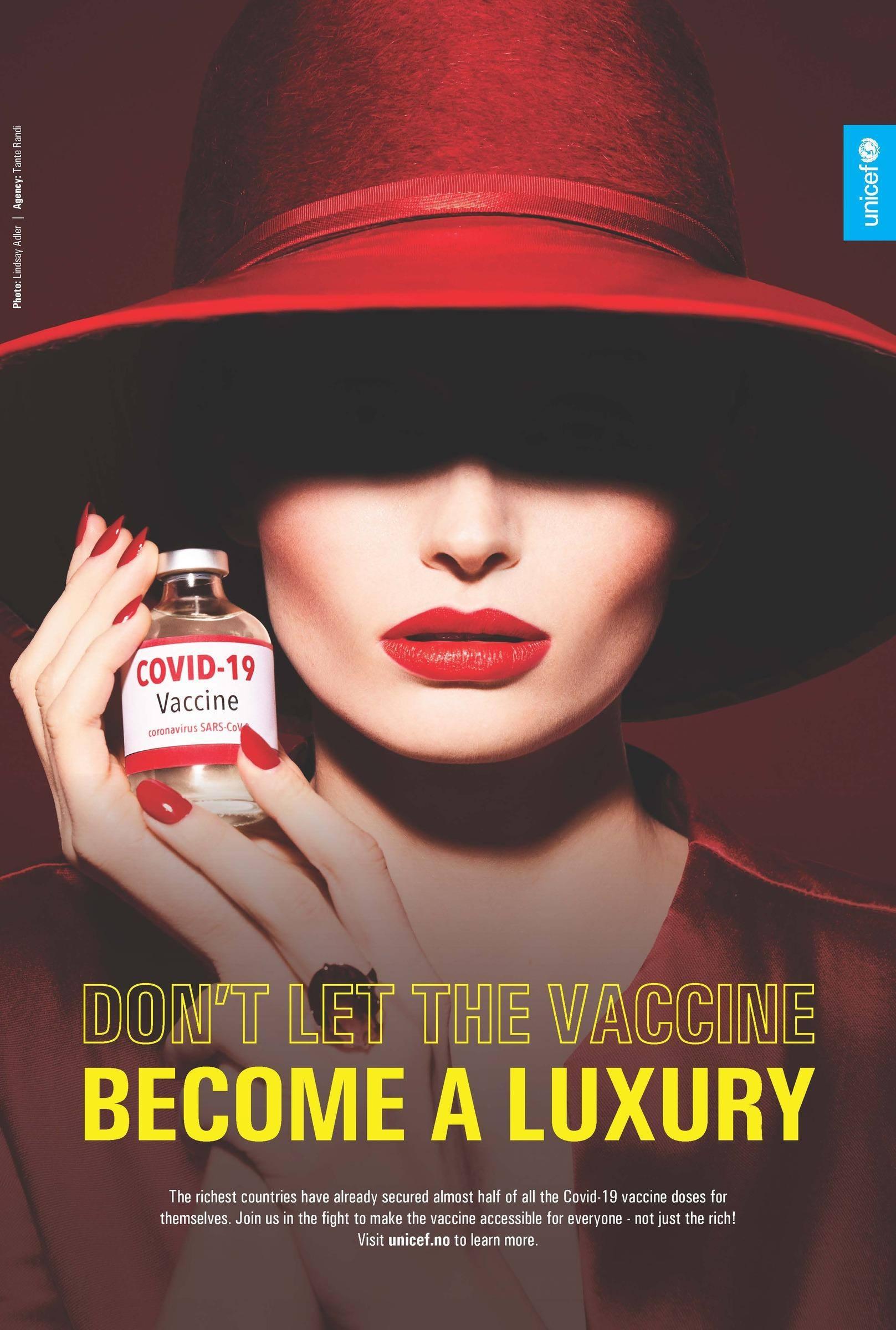 """โฆษณาจาก Unicef วอน """"อย่าให้วัคซีนโควิด-19 กลายเป็นสิ่งที่คนทั่วไปเอื้อมไม่ถึง"""""""
