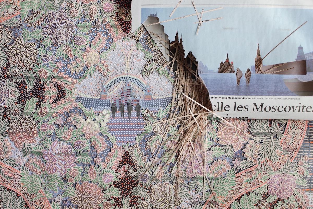 ศิลปิน Myriam Dion สะกิดสังคมให้มองข่าวในมุมใหม่ผ่านศิลปะคอลลาจจากหนังสือพิมพ์
