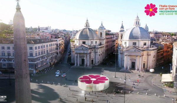 อิตาลีตั้งศูนย์แจกจ่ายวัคซีนโควิด-19 ทั่วประเทศด้วยพาวิลเลียนรูปดอกพริมโรสสะท้อนความหวังอันสดใส