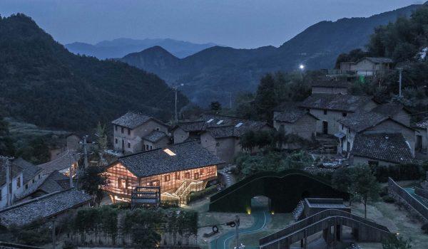 Mountain House in Mist ห้องสมุดกลางหุบเขาในจีน สถาปัตยกรรมใหม่ที่แทรกตัวอยู่ในวิถีเก่า