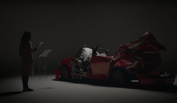 The Impactful Reminder โชว์รถพังยับ! เตือนสตินักขับสายแชทจากเรื่องจริงในงานมอเตอร์โชว์แคนาดา