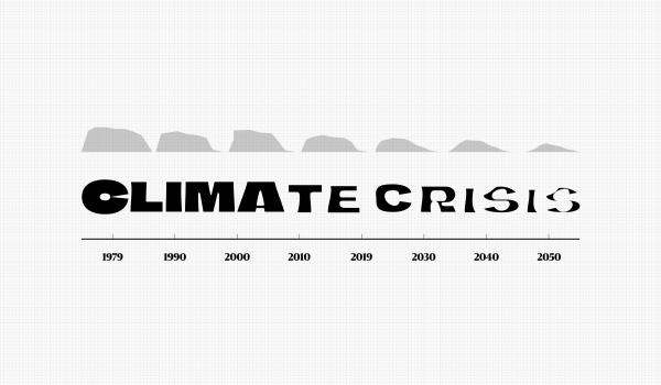 Climate Crisis Font แบบอักษรสุดเท่จากหนังสือพิมพ์ฟินแลนด์ ให้ดีไซเนอร์โหลดไปใช้ฟรีเพื่อเป็นกระบอกเสียงพูดเรื่องโลกร้อน