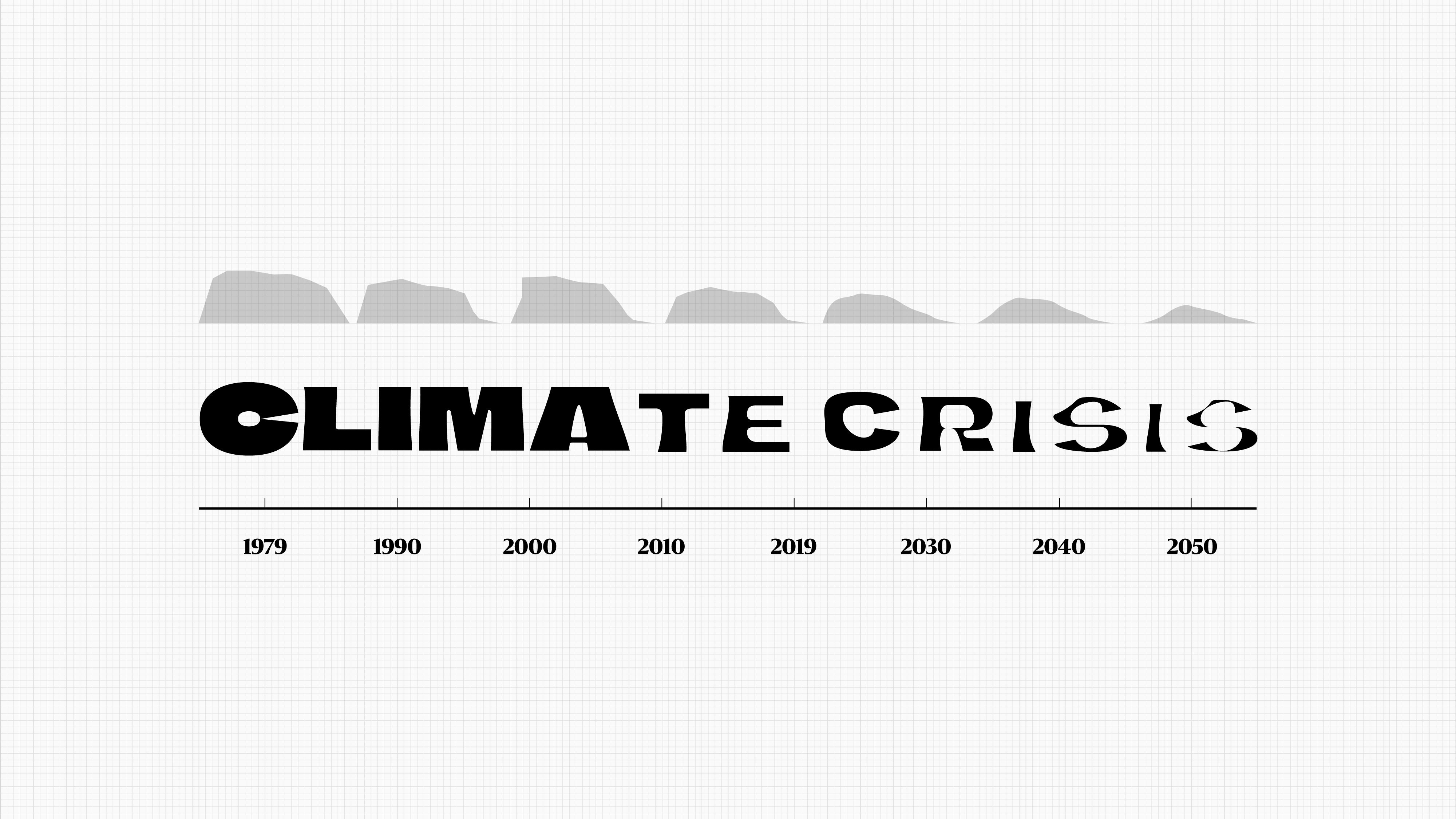 Climate Crisis Font แบบอักษรสุดเท่จากหนังสือพิมพ์ฟินแลนด์ให้โหลดใช้ฟรีเพื่อพูดเรื่องโลกร้อน