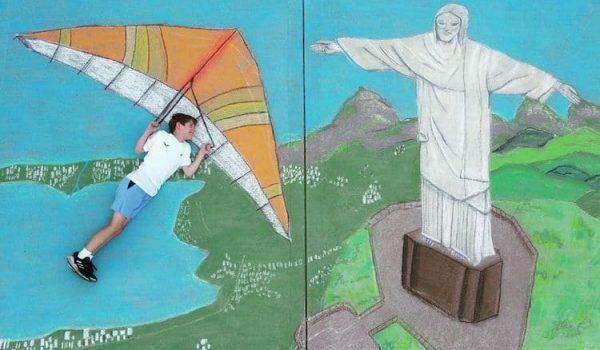 Chalk Art สุดคิ้วท์! พี่สาววัย 14 ชวนน้องชายวัย 9 ขวบท่องทั่วโลกอย่างสร้างสรรค์ในช่วงล็อกดาวน์