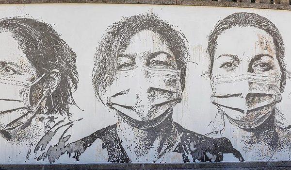 ศิลปิน Vhils กับงานศิลปะเพื่อแสดงคารวะแก่นักรบแนวหน้าด้านสาธารณสุขในโปรตุเกส